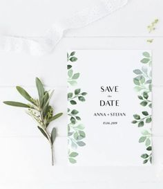 63+ Ideas Wedding Invites Greenery Save The Date