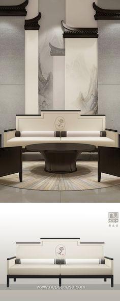 新中式家具(现代中式家具) - 山墙概念...