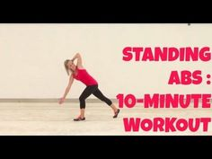 Standing Abs routine with music, no weights