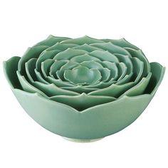 Nesting Lotus Bowls.  Wow.