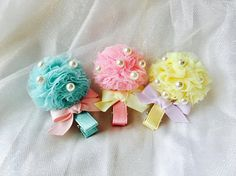 Baby hair clips toddler hair clips girls hair clips tulle