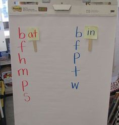 Great idea with sticky notes for word families!