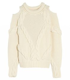 Alexander McQueen Cutout Cable-Knit Wool Sweater