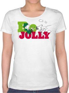 Snoopy Be Jolly Kendin Tasarla - Bayan U Yaka Tişört