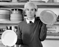 1981: Andy Warhol with Fiestaware. (Ah, this makes since why I'm a Fiestaware addict now!)