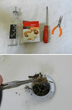 Unplug as much as you can with needle nose pliers, followed by 1/4 baking soda, then vinegar.  Let it bubble for about 15 minutes, then pour really hot water down the drain.