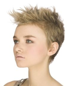 A super short choppy pixie hairstyle is not for the faint hearted – you'll need confidence to pull off the look, as well as delicate features.