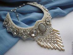 """Колье """"Леди Winter"""" - белый,перламутровый,украшение,колье,подвески,свадьба"""