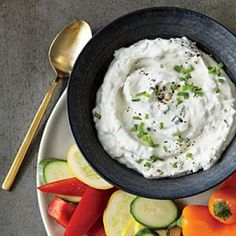Roasted Garlic and Chive Dip | CookingLight.com