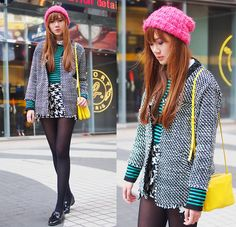Look For The Girl With The Neon Pink Cap (by Camille Co) http://lookbook.nu/look/4468291-Look-For-The-Girl-With-The-Neon-Pink-Cap