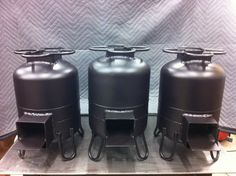 Rocket stoves- freshly painted!