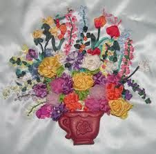 Image result for silk ribbon embroidery