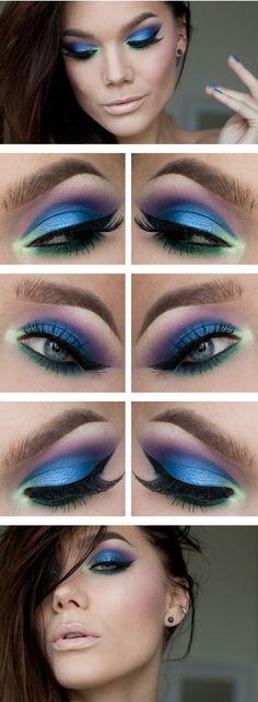 gorgeous blue purple eye