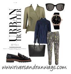"""Urban Traveler"" by riversandrunways ❤ liked on Polyvore featuring Equipment, Stuart Weitzman, Gentle Monster and Yves Saint Laurent"