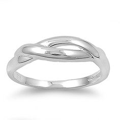 Sterling Silver Woman's Braid Infinity Ring Classic Comfort Fit 925 Band 5mm New Size 6 Valentines Day Gift - Jewelry For Her