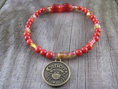 Astrology Cancer Crab  Zodiac Imaginative Bronze by MysticGemz, $5.00 #jewelry #handmade #etsy #mysticgemz #beadedbracelet #zodiac #zodiacbracelet #cancerbracelet