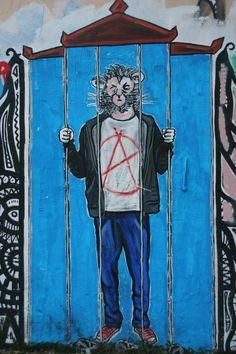 Behind bars, Psiri, Athens
