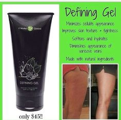 Defining gel is known as liquid gold just because it's soooo awesome!!!It helps with cellulite, stretchmarks, scars, and verifies veins, and even to brighten up tattoos!!!Get yours today and see how amazing it really is!!!    http://WrapwithAllyssa.myitworks.com