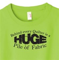 Huge Pile of Fabric Quilting T-Shirt