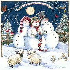 christmas snowmen Sandi Gore Evans