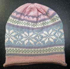 Ravelry: Simple Fair Isle Roll Brim Baby/Toddler Hat pattern by Dru Lundeng Mandelbaum