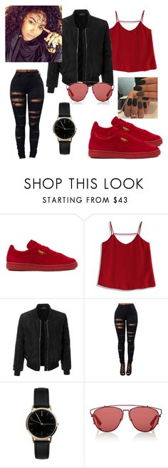 """""""Bang Bang~Trevor Jackson, Kevin Gates"""" by metro-boomin ❤ liked on Polyvore featuring Puma, Chicwish, LE3NO, Freedom To Exist and Christian Dior"""