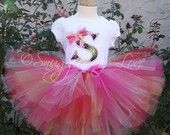 Personalized Tutu Outfit - Includes Shirt and Tutu - Perfect for Birthdays, Babies, Toddlers and Kids - CUSTOM MADE
