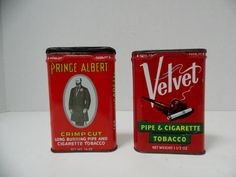 Prince Albert and Velvet Tobacco cans  2 by DocsOddsandEnds