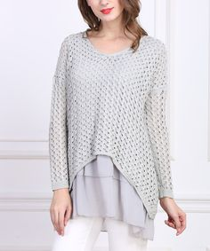 Gray Layered Tunic by Simply Couture
