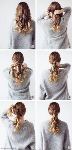 I plejer at være ret glade for hårguides. Specielt den slags der tager under fem minutter at lave. Forståeligt nok. ;) Man gider ikke bruge oceaner af tid foran spejlet…