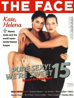 Helena Christiansen and Kate Moss-The Face 1995