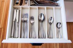 Hidden Cabinet Hacks Dramatically Increased My Kitchen Storage Diy Kitchen Storage Cabinet, Kitchen Organization, Kitchen Cabinets, Organization Ideas, Storage Ideas, Storage Solutions, Organizing Tips, Kitchen Organizers, Utensil Organizer