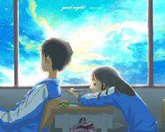 I wish I could touch you Anime Chibi, Anime Manga, Anime Guys, Anime Art, Anime Love Couple, Cute Anime Couples, Couple Art, Couple Illustration, Manga Illustration