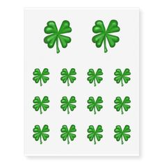 Green Four Leaf Clover Shamrock Temporary Tattoos  Temporary Tattoos create your own, four leaf clover, four leaf clovers, 4 leaf clover, 4 leaf clovers, four leaved clovers, 4 leaved clover, clovers, shamrocks, st patrick's day, design your own, make your own, use your own pic, use your own image, four leaved clover, 4 leaved clovers, clover, shamrock, green, image, st patty's day, symbols of good luck, symbol of good luck, Temporary Tattoos