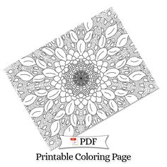 Petal Madness Printable Coloring Page #5 - Terry McClary   | Adult Coloring Page   | Coloring Printable | coloring pages