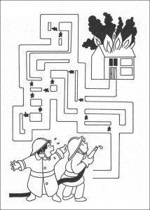 free fireman maze worksheet