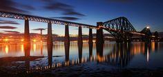 The Forth Road and Rail bridges in South Queensferry, Edinburgh, Scotland