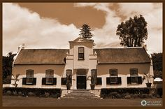 This beautiful wine farm on the east-facing slopes of the Constantiaberg, originally formed part of the Constantia Estate, which was founded by Simon van der Stel, the first Governor of the new Dutch colony at the tip of Africa. History Of Wine, Cape Dutch, Dutch House, Cape Town, Georgian, Old Photos, South Africa, Holland, Buildings