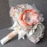 Vintage Inspired Fabric Flower