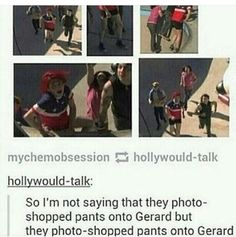 """""""When the world tells you to lengthen your shorts, you must shorten them."""" - Gerard Way (or something like that anyway) Emo Band Memes, Mcr Memes, Emo Bands, Music Bands, My Chemical Romance, Music Stuff, My Music, Mikey Way, Only Play"""