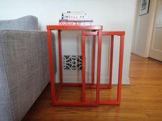 Set of 2 Orange Metal Nesting tables Los Angeles by housecandyla, $150.00