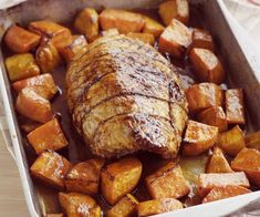 A simple roast pork silverside recipe with maple-roasted vegies for the whole family to sit around and enjoy. Enjoy this easy recipe today. Orange Recipes, Salmon Recipes, Pork Recipes, Snack Recipes, Beetroot Relish, Bread Pudding With Apples, Lamb Meatballs