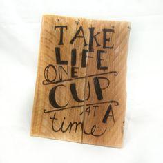 Café déco cuisine décor café signe tasse à café tasse à café drôle art café salle à manger décor accessoires Café Restaurant signe palettes