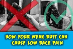 Yes, I am serious when I say this having weak glutes can really be the cause of lots of your low back issues. If you are spending 2 + hours or more a. Tight Hamstrings, Glutes, Gym Tips For Beginners, Hip Ups, Low Back Pain, Physical Therapist, Self Help, Doctors