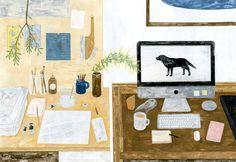 Homespun Illustrations by Fumi Koike