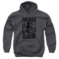 """Checkout our #LicensedGear products FREE SHIPPING + 10% OFF Coupon Code """"Official"""" Batman / Caped Crusader-youth Pull-over Hoodie - Batman / Caped Crusader-youth Pull-over Hoodie - Price: $49.99. Buy now at https://officiallylicensedgear.com/batman-caped-crusader-youth-pull-over-hoodie-44388"""