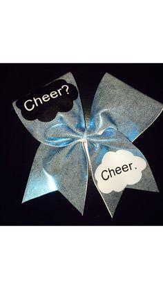 Cheer Bow that aI LOVE LOVE LOVE!!!! #cheer #thefaultinourstars