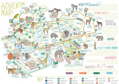 Chester Zoo map  Map layout and design for Chester Zoo.