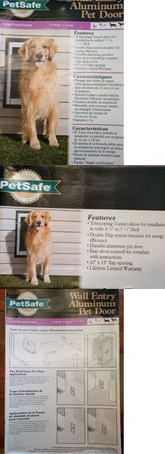 Doors And Flaps 116379 Petsafe Wall Entry Aluminum Pet Door With