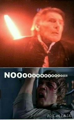 My reaction when Han Solo died
